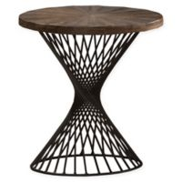 Hillsdale Furniture Kanister Round End Table in Walnut