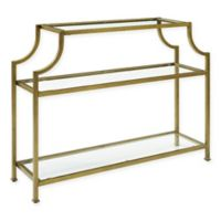 Aimee Glass and Steel Console Table in Gold