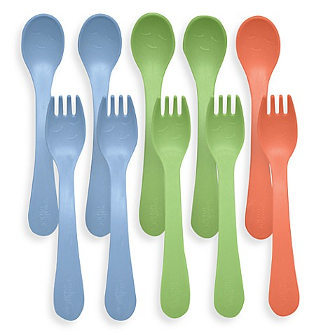 green sprouts® by i play.® Sprout Ware® 10-Pack Toddler Boy Utensil Set