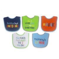 Neat Solutions® Attitude Saying 5-Pack Boys Bib Set