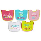 Neat Solutions® Attitude Saying 5-Pack Girls Bib Set