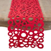 Saro Lifestyle Felt Bubble 48-Inch Table Runner in Red