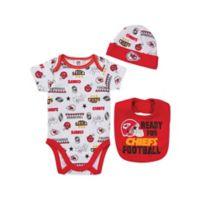 NFL Kansas City Chiefs 3-Piece Size 3-6M Bodysuit, Hat and Bib Set