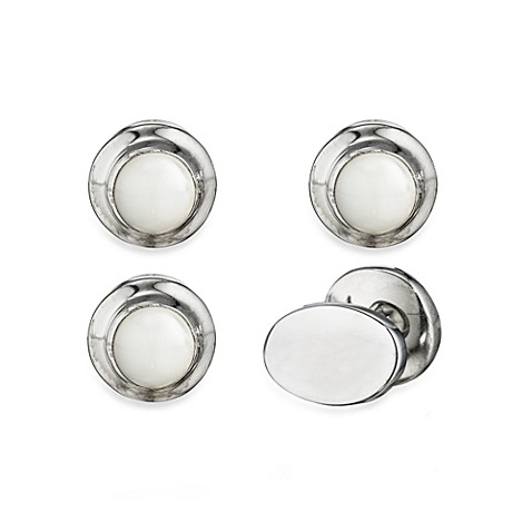 Robin Rotenier Sterling Silver Globe Studs Set w/Mother of Pearl