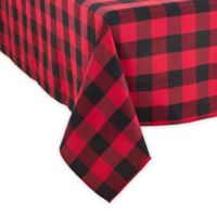 Saro Lifestyle Buffalo Plaid 70-Inch Square Tablecloth in Red