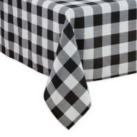 Saro Lifestyle Buffalo Plaid 70-Inch x 160-Inch Oblong Tablecloth in Black