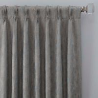 Drift 108-Inch Pinch Pleat Window Curtain Panel in Misty Blue