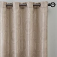 Medallion 84-Inch Grommet Window Curtain Panel in Linen