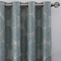 Medallion 108-Inch Grommet Window Curtain Panel in Topaz