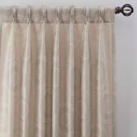 Medallion 108-Inch Pinch Pleat Window Curtain Panel in Linen