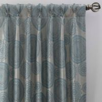 Medallion 95-Inch Pinch Pleat Window Curtain Panel in Topaz