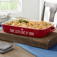 Made With Love 4 qt. Stoneware Casserole Dish in Red