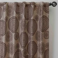 Medallion 63-Inch Rod Pocket/Back Tab Window Curtain Panel in Mocha