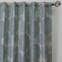 Medallion 63-Inch Rod Pocket/Back Tab Window Curtain Panel in Topaz