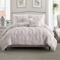 Swift Home Floral Pintuck Twin/Twin XL Comforter Set in Rose