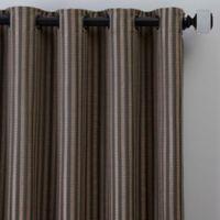Rail Stripe 95-Inch Grommet Window Curtain Panel in Charcoal