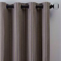 Rail Stripe 95-Inch Grommet Window Curtain Panel in Haze