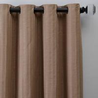 Rail Stripe 95-Inch Grommet Window Curtain Panel in Mocha