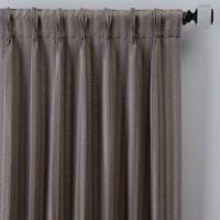 Rail Stripe 108-Inch Pinch Pleat Window Curtain Panel in Haze