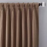 Rail Stripe 95-Inch Pinch Pleat Window Curtain Panel in Mocha