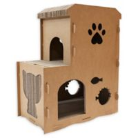 Petique Feline Meow Pet House in Brown