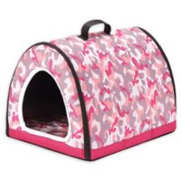 Petique Small One-Zip Pet House in Pink