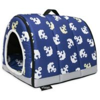 Petique Large One-Zip Pet House in Blue