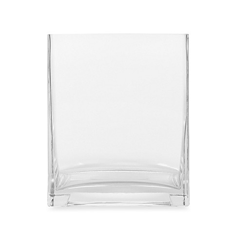 6 Inch Square Clear Glass Vase Bed Bath Beyond
