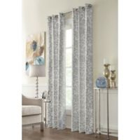 Conrad 95-Inch Grommet Window Curtain Panel in Grey