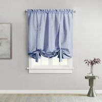 Ticking Stripe 63-Inch Rod Pocket Window Curtain Panel in Navy
