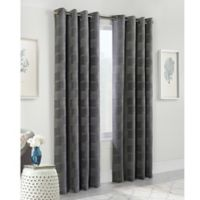 Nippon 84-Inch Grommet Window Curtain Panel in Charcoal