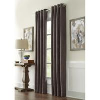 Infinity 95-Inch Grommet Window Curtain Panel in Charcoal