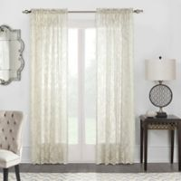 Commonwealth Home Fashions Columbus Lace 63-Inch Rod Pocket Window Curtain Panel in Ivory