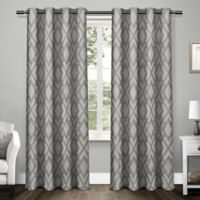 Easton 96-Inch Grommet Window Curtain Panel Pair in Black Pearl