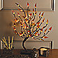 22-Inch Brown Wrapped Amber Leaf LED Lighted Tree