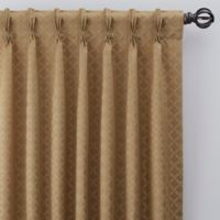 Regency 108-Inch Pinch Pleat Window Curtain Panel in Gold