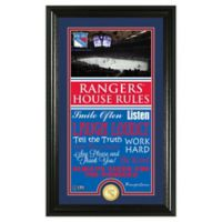 NHL New York Rangers House Rules Photo Mint