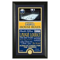 NHL Buffalo Sabres House Rules Photo Mint