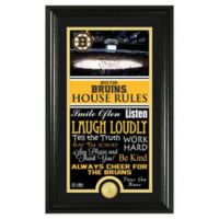 NHL Boston Bruins House Rules Photo Mint