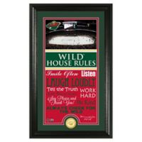 NHL Minnesota Wild House Rules Photo Mint