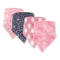Hudson Baby® 12-Pack Modern Floral Bandana Bibs in Pink