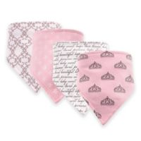 Hudson Baby® 12-Pack Princess Bandana Bibs in Pink