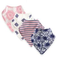 Touched by Nature® 12-Pack Daisy Organic Cotton Bandana Bibs in Pink