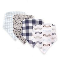 Hudson Baby® 12-Pack Mustaches Bandana Bibs in Brown