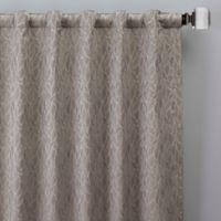 Sebille Jacquard 84-Inch Rod Pocket/Back Tab Window Curtain Panel in Latte