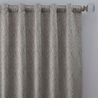Sebille Jacquard 108-Inch Rod Pocket/Back Tab Window Curtain Panel in Silver Blue