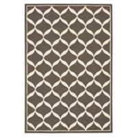 Nourison Deco 2'6 x 3'10 Accent Rug in Grey/White