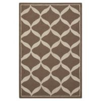 Nourison Deco 2'6 x 3'10' Accent Rug in Taupe/White