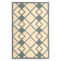 Nourison Deco 2'6 x 3'10 Accent Rug in Ivory/Blue
