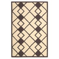 Nourison Deco 2'6 x 3'10 Accent Rug in Ivory/Grey